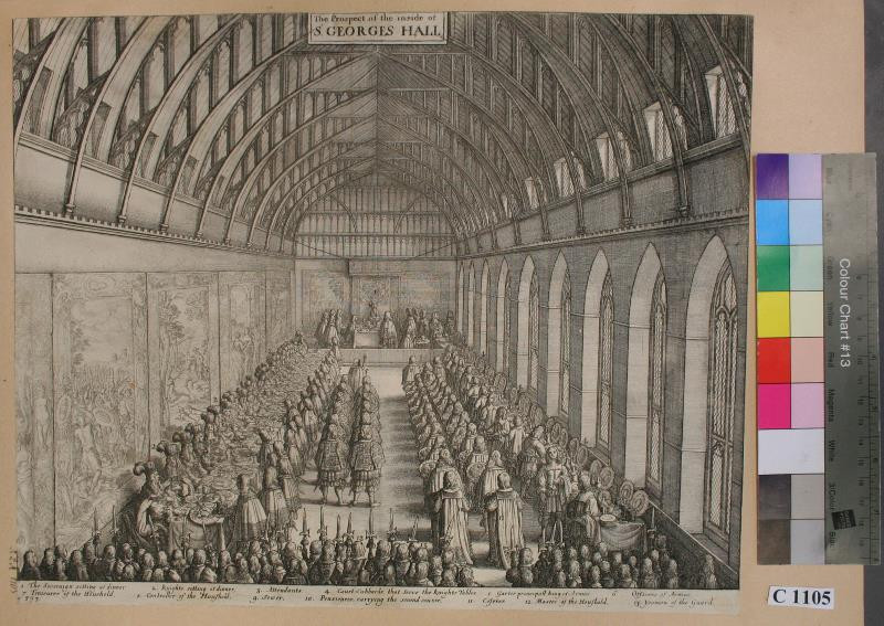 Václav (Wenceslaus) Hollar - The prospect of the inside of S. Georgés Hall